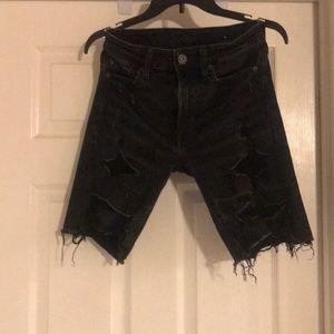 Men's distressed shorts